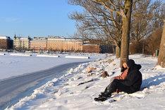 美雪と悠輔がデートするシーンを撮影した、テルヴァサーリ。