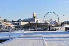 冬のヘルシンキの景色。