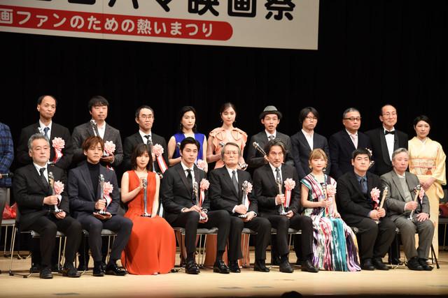 第40回ヨコハマ映画祭表彰式の様子。