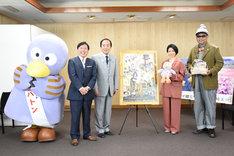 埼玉県庁表敬訪問の様子。