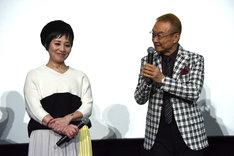 左から伊倉一恵、神谷明。