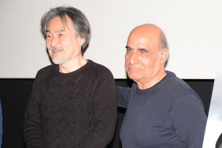 「山〈モンテ〉」トークイベントの様子。左から黒沢清、アミール・ナデリ。