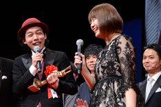 左から上田慎一郎、ふくだみゆき。