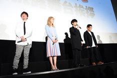 左から松原秀、Dream Ami、櫻井孝宏、藤田陽一。