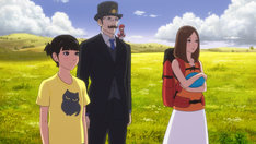 「バースデー・ワンダーランド」より、松岡茉優が声を当てるアカネ(左)、市村正親が声を当てるヒポクラテス(中央)。