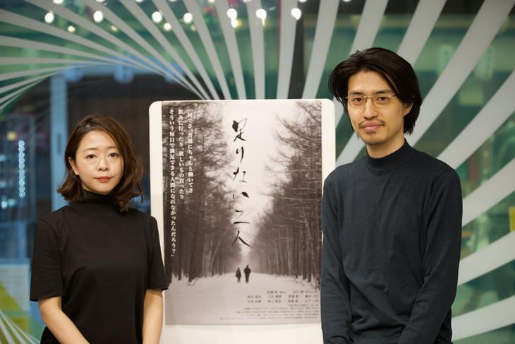 「活弁シネマ倶楽部」第13回より、左から山口遥、佐藤秋。