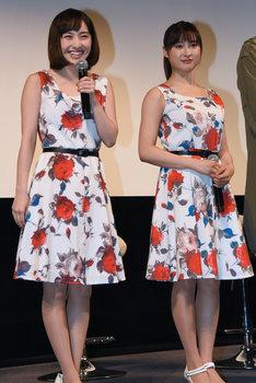 左から百田夏菜子(ももいろクローバーZ)、土屋太鳳。