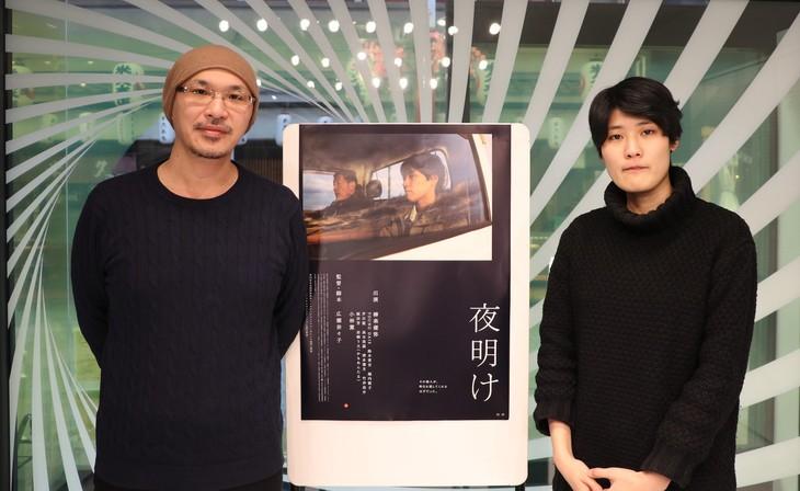 左からMCの森直人、広瀬奈々子。