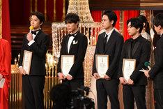 左から伊藤健太郎、中川大志、成田凌、吉沢亮。
