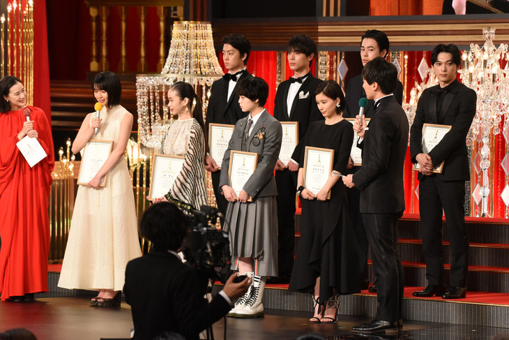第42回日本アカデミー賞授賞式の様子。