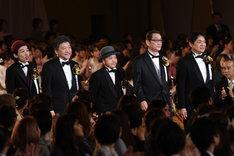 左から上田慎一郎、是枝裕和、白石和彌、滝田洋二郎、本木克英。