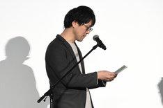 北山宏光への手紙を朗読する筧昌也。
