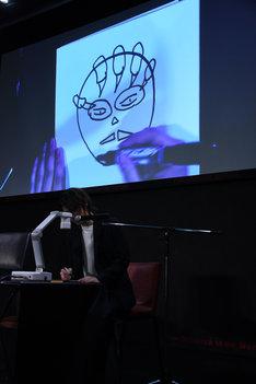 横山涼の描いた「ジ・オメガマン」。