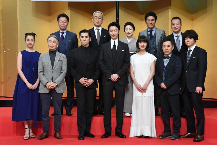 大河ドラマ「麒麟がくる」出演者発表会見の様子。