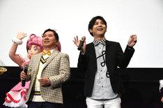 前列左から田中裕二、梶裕貴。