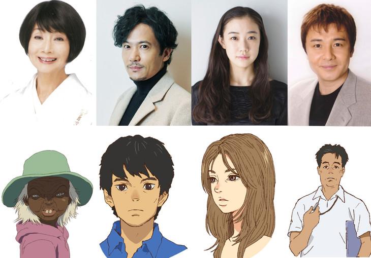 上段左から富司純子、稲垣吾郎、蒼井優、渡辺徹。下段左からデデ、安海正明、安海加奈子、琉花が所属するハンドボール部の先生。