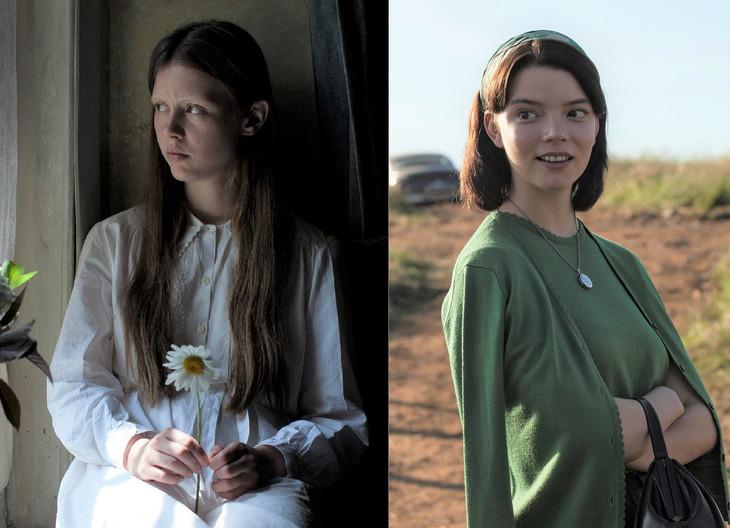 「マローボーン家の掟」新場面写真より、左からミア・ゴス、アニヤ・テイラー=ジョイ。