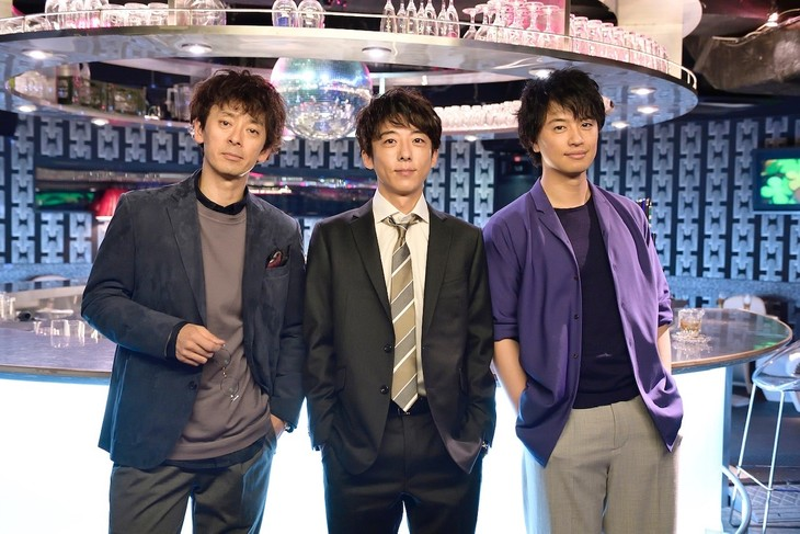 左から滝藤賢一、高橋一生、斎藤工。