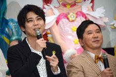 左から梶裕貴、田中裕二。