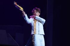 アクションショーにて、元木聖也演じる高尾ノエル。