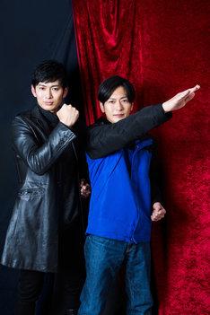 左から松田悟志、須賀貴匡。(撮影:佐藤類)