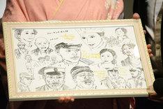 ロデオン・ガリュチェンコら来日キャストから阿部純子に贈られた色紙。