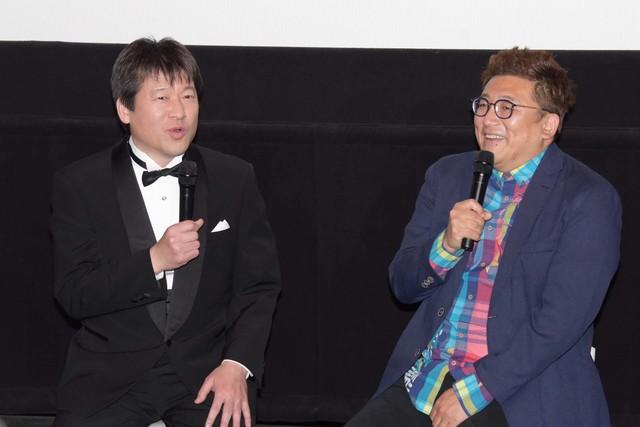 左から佐藤二朗、福田雄一。