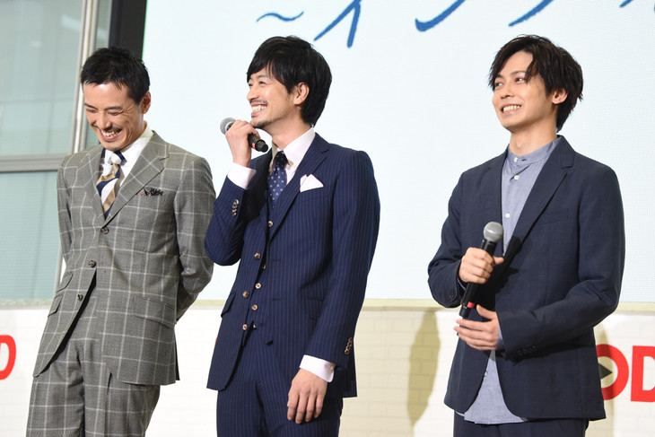左から吉田宗洋、竹財輝之助、猪塚健太。