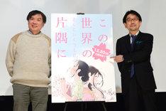 左から片渕須直監督、真木太郎プロデューサー。
