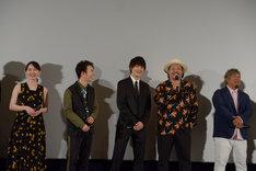 左から山田杏奈、森永悠希、佐野勇斗(M!LK)、上江洌清作(MONGOL800)、高里悟(MONGOL800)。
