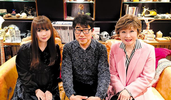左から中川翔子、亀田誠治、小林幸子。(c)ソニー・ミュージックレコーズ