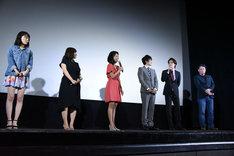 「映画版 ふたりエッチ ~ラブ・アゲイン~」公開記念舞台挨拶の様子。