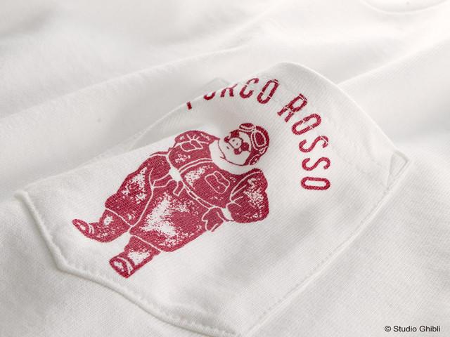 「紅の豚 Tシャツ アドリア海のエース」の胸ポケット。