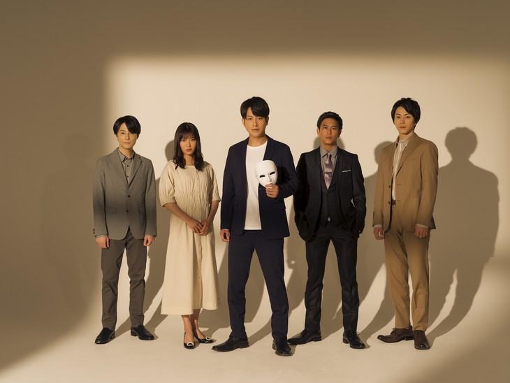 「仮面同窓会」キャスト陣。左から木村了、瀧本美織、溝端淳平、佐野岳、廣瀬智紀。