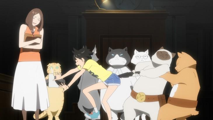 「バースデー・ワンダーランド」より、猫の番所のシーン。