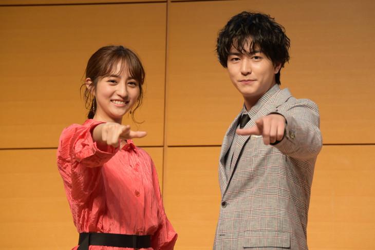 「ダウト-嘘つきオトコは誰?-」製作発表イベントの様子。左から堀田茜、稲葉友。