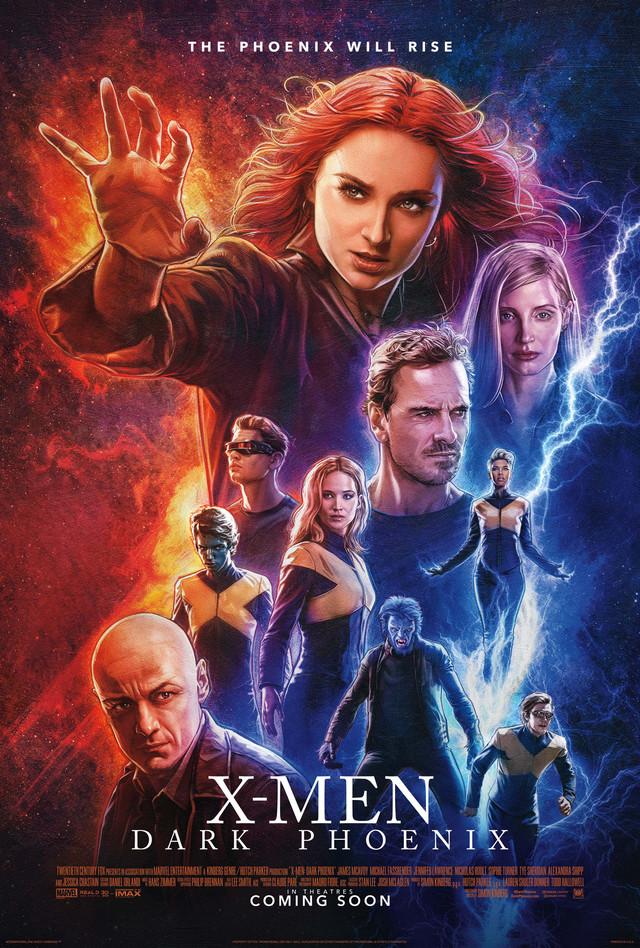 「X-MEN:ダーク・フェニックス」海外版ポスタービジュアル