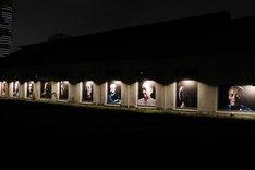 ツァイ・ミンリャンの展示会の様子。