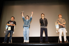 左から森井輝、森永悠希、佐野勇斗、橋本光二郎。
