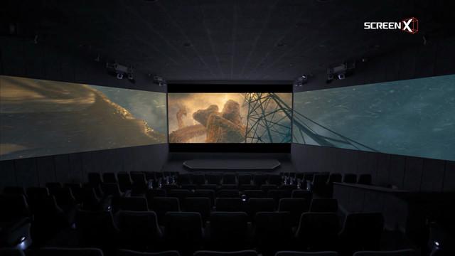 「ゴジラ キング・オブ・モンスターズ」ScreenX上映イメージ