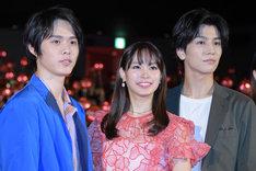 「町田くんの世界」公開記念舞台挨拶の様子。
