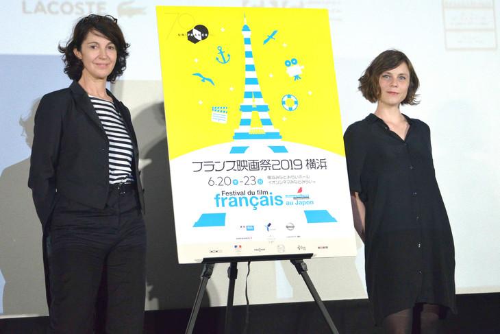 フランス映画祭2019 横浜にて、「カブールのツバメ」で共同監督を務めたザブー・ブライトマン(左)とエレア・ゴべ・メヴェレック(右)。