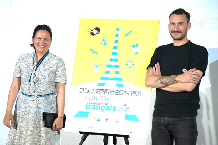 左からキャロリーヌ・ボンマルシャン、セバスチャン・マルニエ。