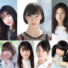 「踊ってミタ」追加キャスト。上段左から横田真悠、加藤小夏、森田想。下段左から霜月めあ、小牧那凪、白石優愛、りりり。
