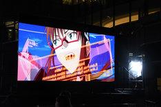 7月6日に行われた「シン・エヴァンゲリオン劇場版 AVANT1(冒頭10分40秒00コマ)0706版」上映の模様。