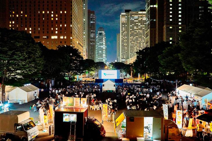 「Screen@Shinjuku Central Park 2019 ~小田急沿線・クラフトビール新酒解禁祭りmini~」会場イメージ