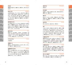「俳優・創作者のための動作表現類語辞典」中面