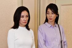 「まだ結婚できない男」より、吉田羊演じる吉山まどか(左)と稲森いずみ扮する岡野有希江(右)。