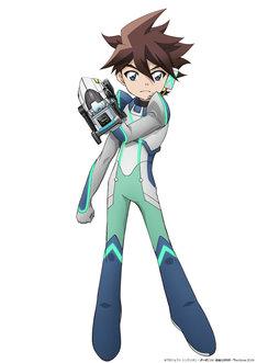 「劇場版『新幹線変形ロボ シンカリオン 未来からきた神速のALFA-X』」より、パイロットスーツを着用した謎の少年。