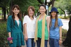 左から上原多香子、今井絵理子、島袋寛子、新垣仁絵の4名。
